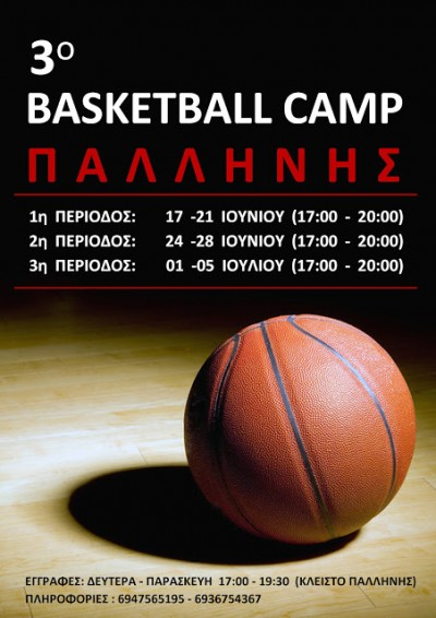 3o BASKETBALL CAMP ΠΑΛΛΗΝΗΣ